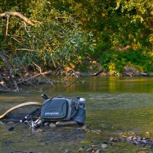 letná prívlač na rieke
